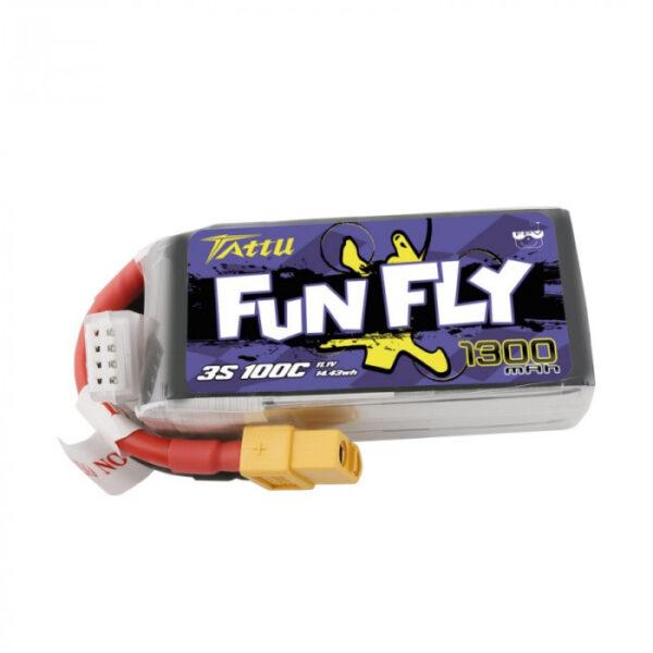 Tattu FunFly Series 1300mAh 11.1V 100C 3S1P XT60 TA-FF-100C-3S1P gensace romania tattu cizfpv drona fpv
