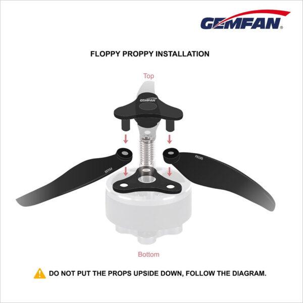 gemfan-floppy-proppy-f5135-foldable-prop-cizfpv-drone-fpv-romania